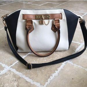 Handbags - Multi-toned Satchel Handbag